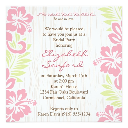 unique bridal shower invitations beach theme